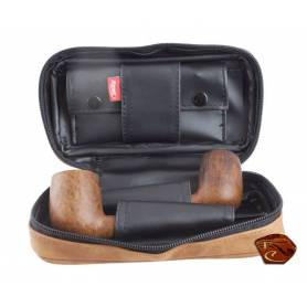 2 Pipes Bag with tobacco Pouch