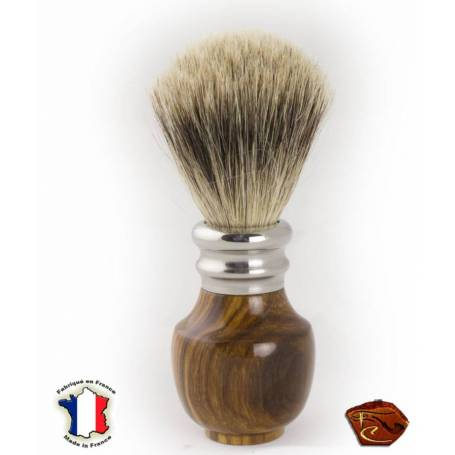 Shaving Brush in Gaïac: French craftmade