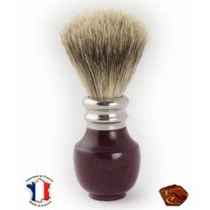 Shaving Brush in Amaranth: french craftmade