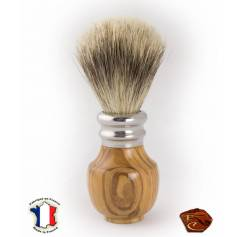 Shaving Brush in Olive wood