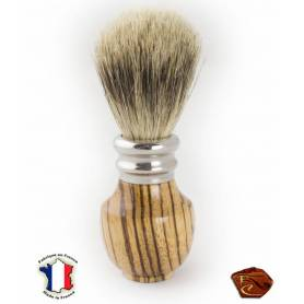 Shaving brush in Zebrano.