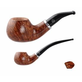 Rattray's Butcher's Boy Pipe LI23: tobacco pipe, 2 stems, bent shape, 9mm filter