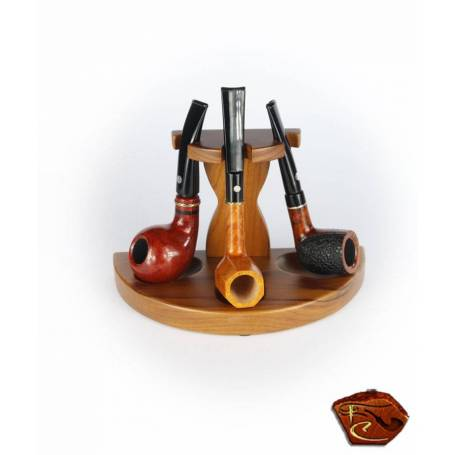Porte Pipe en bois 3 pipes