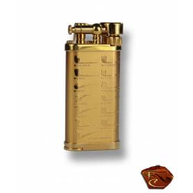 Briquet à pipe Corona Old Boy 64-7415-doré