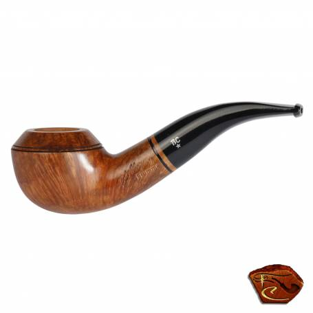 Butz Choquin Flamed Pipe: tobacco pipe, bent shape, 9mm filter