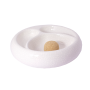 2 Pipe Round White Ashtray