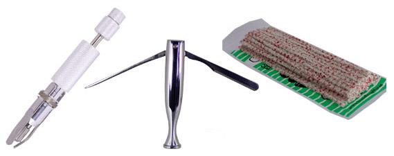 accessoires utilisés pour l'entretien de la pipe en bois